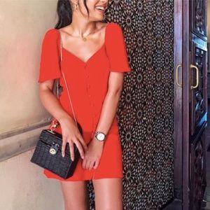 NWT Zara puff sleeves dress - As seen on bloggers
